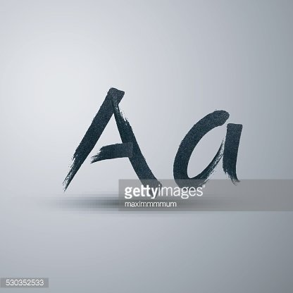 vector calligraphic hand-drawn marker or ink letter A