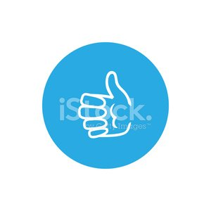 Icon hand giving thumbs up, vector illustration
