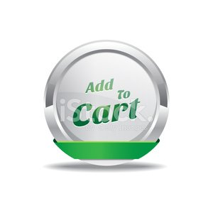 Add To Cart Green Vector Icon Button