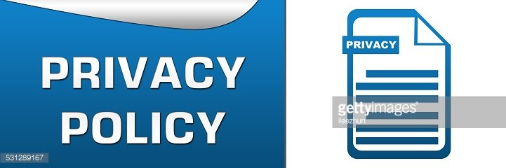 Privacy Policy Clip Art >> Privacy Policy Blue White Horizontal Clipart Image