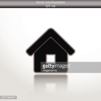 Vector home web flat icon