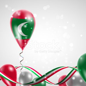 Flag of the Maldives on balloon