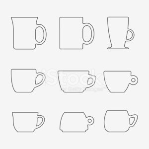 Icon Set of cups