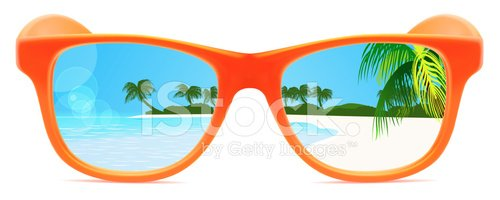 Beach sunglasses. Summer with reflection premium