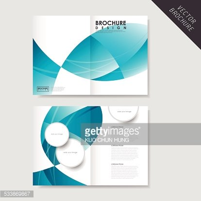 modern streamlined half fold brochure template