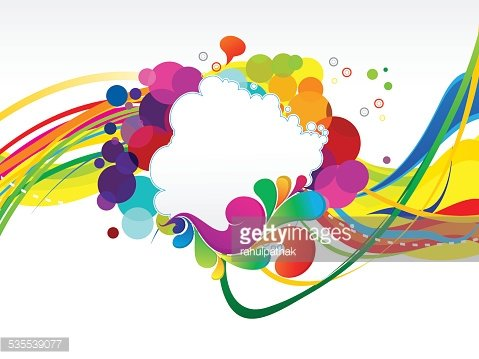 Abstract Colorful Rainbow Explode Background Premium Clipart