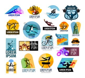 fitness vector logo design template. sport or athlete icon
