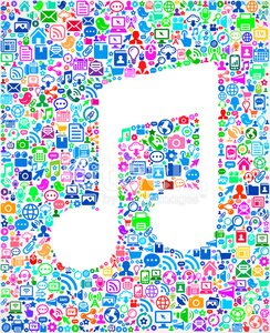 Music Note Modern Technology royalty free vector art Pattern