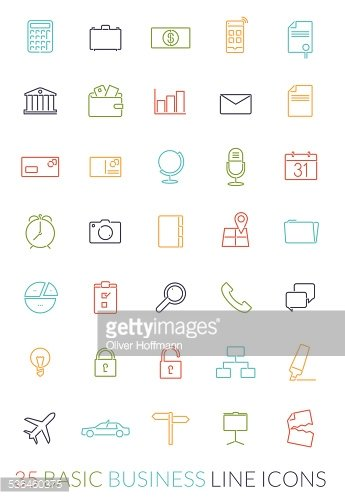 Business Line Icon Vector Set