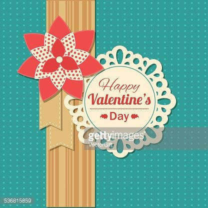 Valentines day typographical retro holiday card