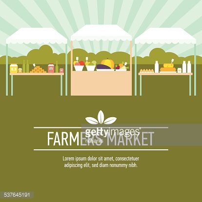 Farmers Market Background Two Clipart Image 1 566 198