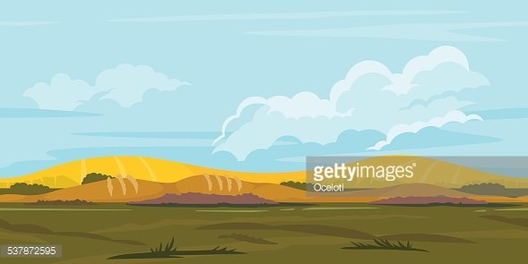 Fields Game Background Landscape