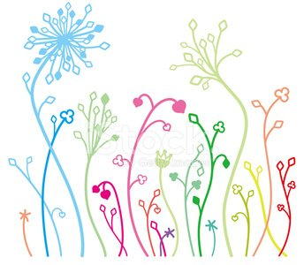 Beautiful Flower Parttern flat design