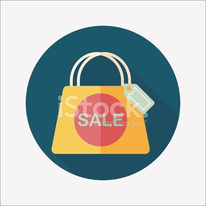 shopping paper bag flat icon with long shadow,eps10