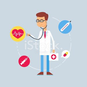 Character - doctor, medical concept. Vector illustration, flat s
