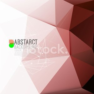 abstract moderne polygoon achtergrond in rode Toon, illustrat vector