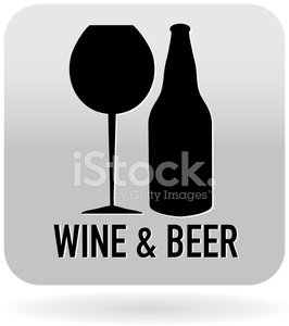 Wine and beer glass icon