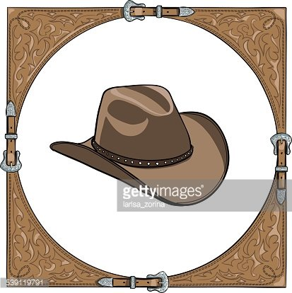Cowboy Hat IN The Western Leather Frame premium clipart ...