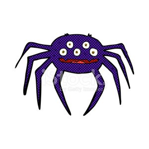 comic cartoon halloween spider