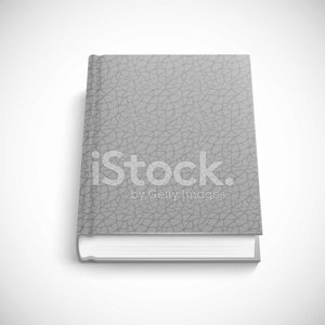 book template with grey color lather hard cover