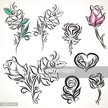 Rose Van Tribal Tattoo Set Premium Clipart Clipartlogocom