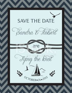 Nautical Save The Date Wedding Announcement