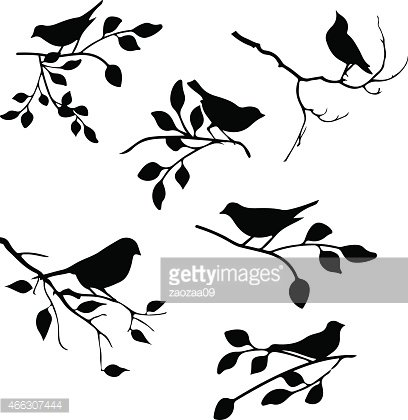 bird with leaf element