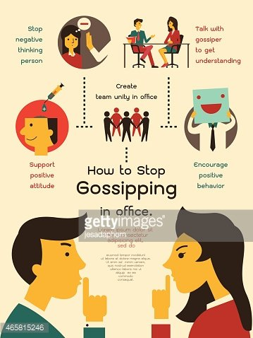 How to stop gossiping in office