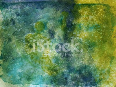 Colorful hand painted watercolor texture with splatters