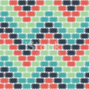 Seamless Colorful background made of stitched rounded rectangles