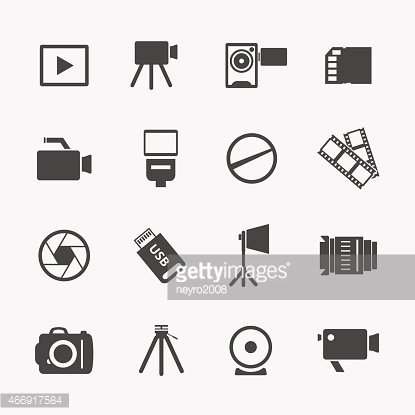 Camera and photo icons
