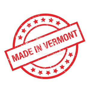 made in vermont rubber stamp