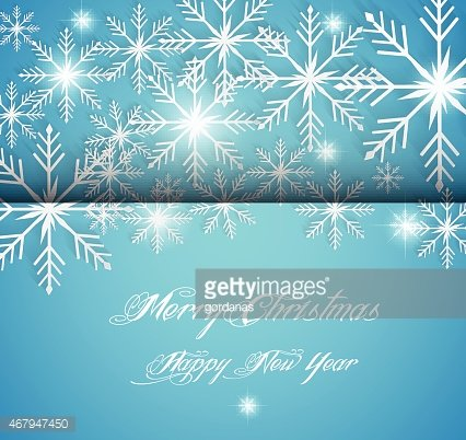 Abstract Christmas card with 3d snowflakes
