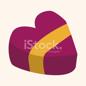 Valentine S Day Box Of Chocolate Flat Icon Elements Background E