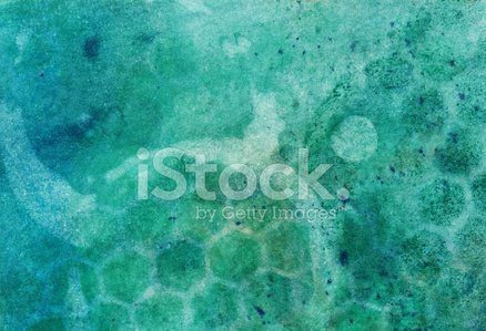 Hand painted watercolor with green and blue colors