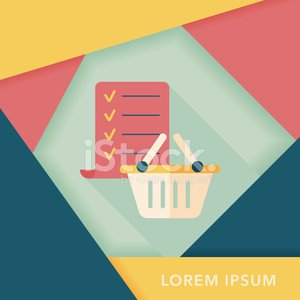 shopping list flat icon with long shadoweps10