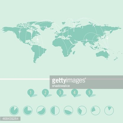 World Map Icon Great for Any Vector premium clipart