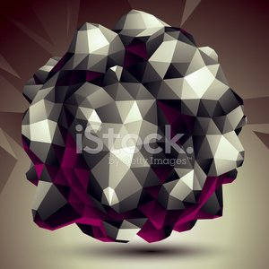 Abstract asymmetric vector monochrome object constructed