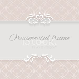 Paper lace background, ornamental vector frame with lacy seamles