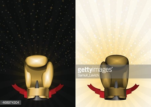 boxing gloves. Set template for Championship Awards. boxing gold