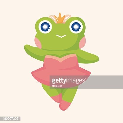 animal frog dancing cartoon theme elements