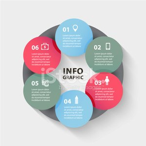 Vector circle abstract arrows infographic. Template for diagram,