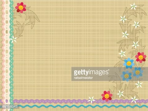 Canvas Lace Ribbons Embroidery Floral Pattern