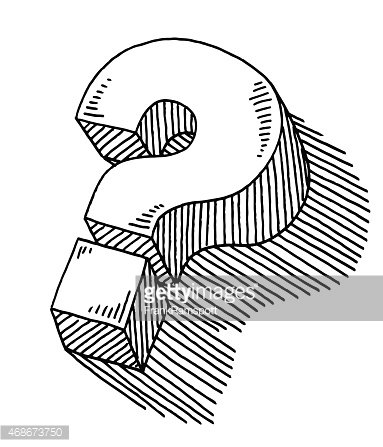 Question Mark 3d Symbol Drawing Premium Clipart