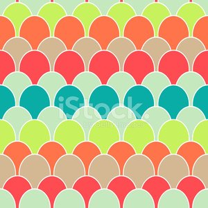 Seamless Abstract Background made of colorful scale