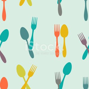 Seamless abstract background made of Dishes in flat design