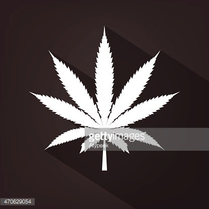 Cannabis leaf icon silhouette symbol. Vector