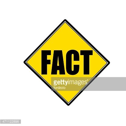 FACT black stamp text on yellow
