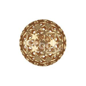 gold abstract ball