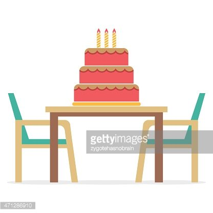 Cake On A Table With Chairs